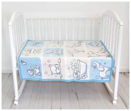 Одеяло Baby Nice Веселые картинки голубое