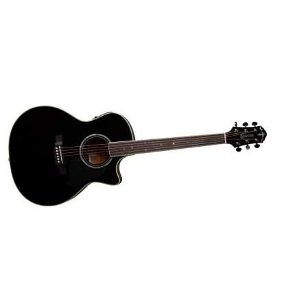 Электроакустическая гитара шестиструнная CRAFTER DE-8 BK  Чехол