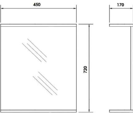 Зеркало для ванной Orange Стандарт 45 St-45ZE