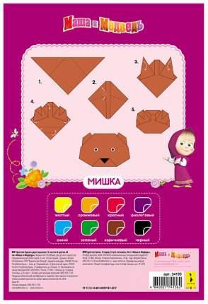 Набор цветной бумаги Росмэн Маша и Медведь 34193