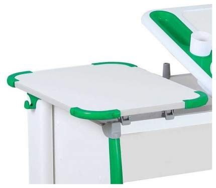 Парта Дэми Techno СУТ 31-05 с тумбой, задней и боковой приставкой 04952-4 Белый/Зеленый