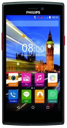 Смартфон Philips Xenium V377 8Gb Black Red
