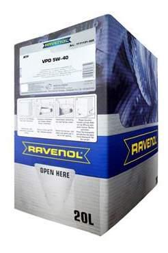 Моторное масло Ravenol VPD SAE 5W-40 20л ecobox
