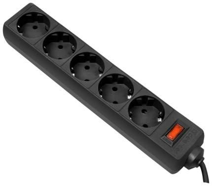 Сетевой фильтр Defender ES 5, 5 розеток, 5 м, Black