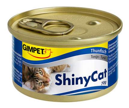 Консервы для кошек GimPet ShinyCat, тунец в желе, 70г