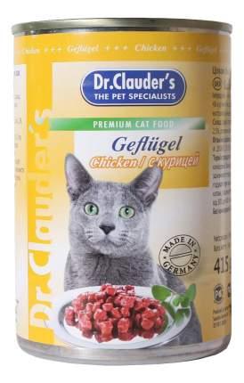 Консервы для кошек Dr.Clauder's, с курицей в соусе, 20шт по 415г