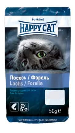Лакомство для кошек Happy Cat Угощение Лосось & Форель с двумя видами рыбы, 50г