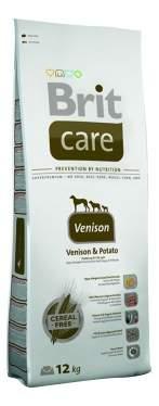 Сухой корм для собак Brit Care Sensitive, гипоаллергенный, оленина, картофель, 12кг