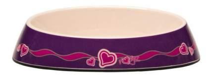Одинарная миска для кошек Rogz, силикон, керамика, фиолетовый, розовый, 0.2 л