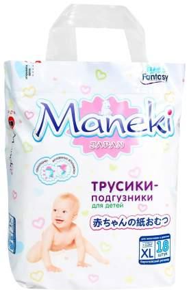 Подгузники-трусики Maneki Fantasy XL (12+ кг), 18 шт.