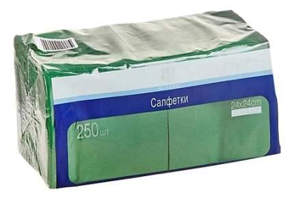 Салфетки H-Line двухслойные зеленые 24*24 см 250 штук