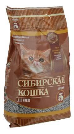 Впитывающий наполнитель для котят Сибирская кошка глиняный, 2.4 кг, 5 л