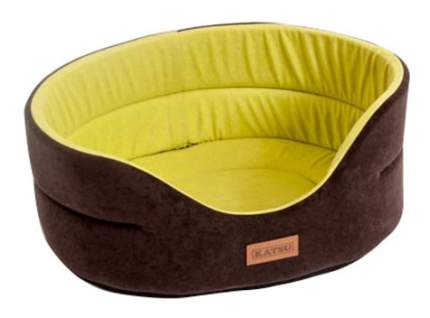Лежанка для кошек и собак Katsu 46x52x19см коричневый, желтый