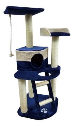 Комплекс для кошек Papillon Осло, 49x49x120 см, голубо-бежевая
