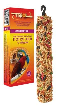 Лакомства для птиц Triol для средних и крупных попугаев, с мёдом, КФ-15600