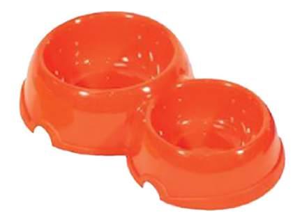 Двойная миска для кошек и собак Дарэлл, пластик, 2шт. в ассортименте, 0,15л + 0,25л
