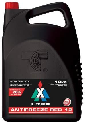 Антифриз X-FREEZE красный готовый антифриз 10л