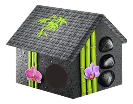 Домик для кошек PerseiLine черный, серый, розовый, зеленый 33x40x33см