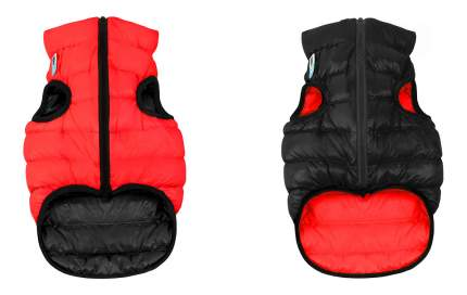 Куртка для собак AiryVest размер XS унисекс, черный, красный, длина спины 30 см