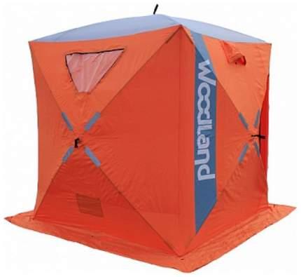 Палатка-автомат WoodLand Ice Fish одноместная оранжевая/синяя