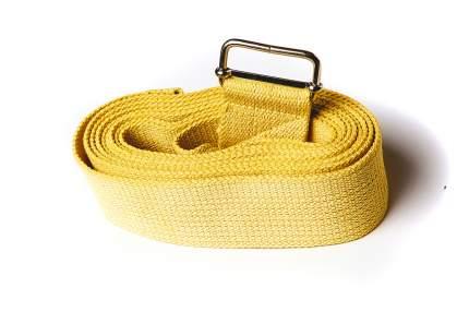 Ремень для йоги RamaYoga Де Люкс усиленный, желтый