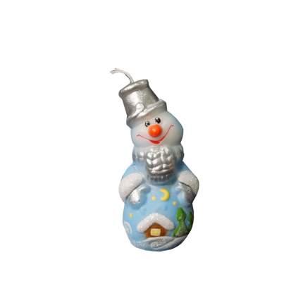Свеча новогодняя Омский свечной завод 1498 Снеговик 8 см