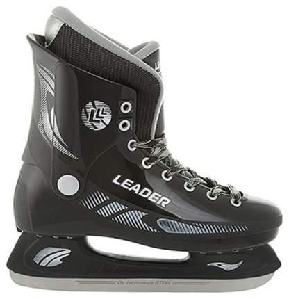 Коньки хоккейные Спортивная Коллекция Leader, черный, 38 RU