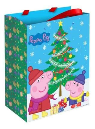 Подарочный пакет Свинка Пеппа Пеппа зимой 23 х 18 см Peppa Pig 28845
