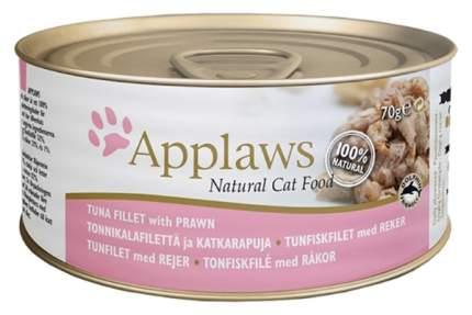 Консервы для кошек Applaws, с филе тунца и креветками, 70г