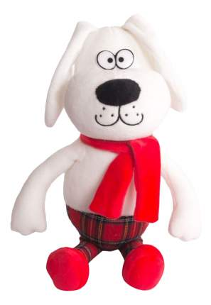 Мягкая игрушка Button Blue Собачка - интеллигент в красном шарфе, 25 см