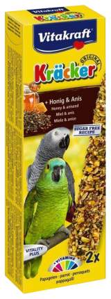 Лакомства для птиц Vitakraft Крекеры для крупных африканских попугаев медовые 180 г 21287