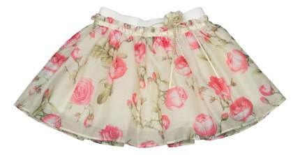 Юбка Vitacci Princess бежевая в цветочный принт 92 размер