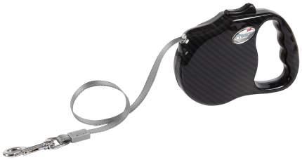 Поводок-рулетка Freego Мобил лента, 5м х 41кг, разм,L, черная