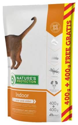 Сухой корм для кошек Nature's Protection INDOOR, для домашних, домашняя птица, 0,8кг