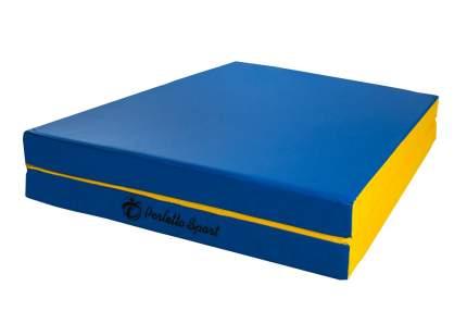 """Мат № 8 (100 х 200 х 10) складной 1 сложение """"PERFETTO SPORT"""" сине/жёлтый"""