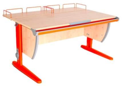 Парта Дэми СУТ-15-01 с двумя задними приставками Клен Оранжевый 75х55 см