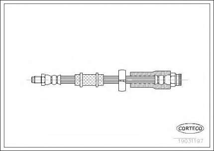 Шланг тормозной системы Corteco 19031197