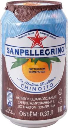 Напиток среднегазированный Sanpellegrino с экстрактом померанца жестяная банка 0.33 л