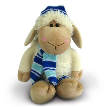 Мягкая игрушка Овечка в шапочке и шарфике, 21 см