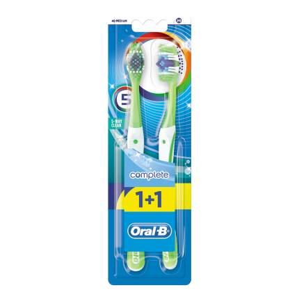 Зубная щетка Oral-B Пятисторонняя чистка 40 средняя 1+1шт