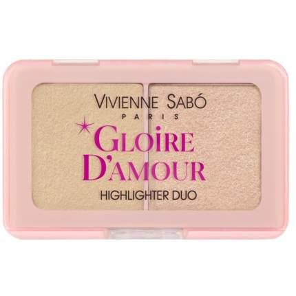 Палетка хайлайтеров Vivienne Sabo Gloire d'amour мини тон 02 персиковый