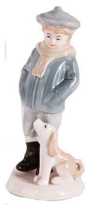 Snowmen Новогодняя фигурная игрушка из керамики мальчик с собакой 19 см Snowmen Е92352