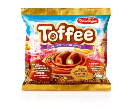 Мягкая карамель Победа Вкуса Toffee в шоколаде 2 вида