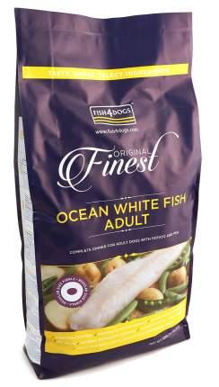 Сухой корм для собак Fish4Dogs Finest Ocean Adult, для крупных пород, белая рыба, 12кг