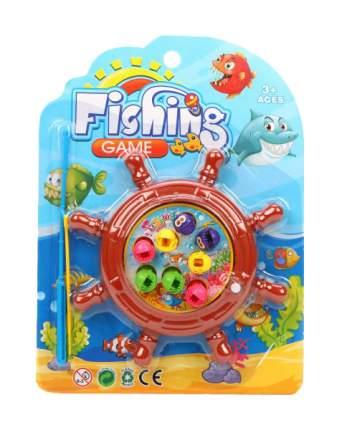 Рыбалка заводная, игровое поле + 8 фигурок + удочка,блистер