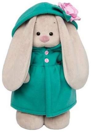 Мягкая игрушка Budi Basa Зайка Ми в изумрудном пальто с розовым цветочком, 32 см