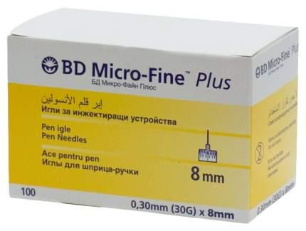 Иглы BD Micro-Fine Plus для шприц-ручки 0,3 х 8 мм 100 шт.