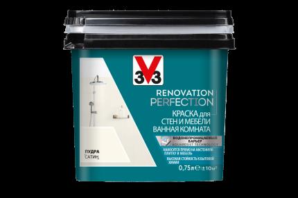 Краска V33 для стен и мебели в ванной комнате Renovation Perfection Цвет пудра