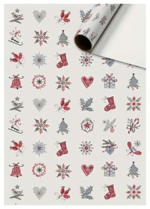 """Бумага упаковочная """"Otila red. Новогодний"""", 0,7x2 метра"""