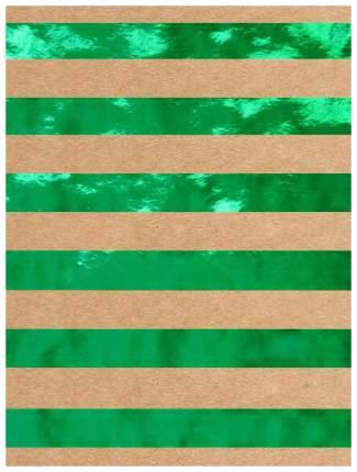 """Бумага крафт """"Зеленые полосы"""", 60 г/м2, 100х70 см"""